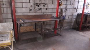 Steel Work Bench with fitted Record 3 Vice 220x80x