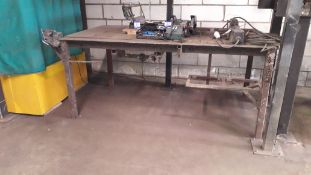 Steel Work Bench with Fitted Vice 200x120x90 (Cont