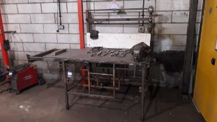 Steel Work Bench fitted with Record 23 Vice (Contents not included) 200x110x90