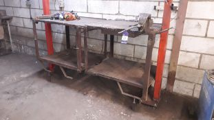 Steel Work Bench with fitted Record 34 Vice 200x75