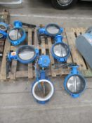 """6 x 10"""" (250mm) Cast Iron Housing Stainless Steel Butterfly Valves"""