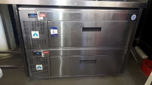 Adande Stainless Steel Undercounter Double Drawer