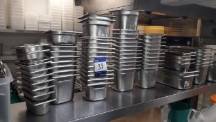 Quantity of Various Genware Stainless Steel Gastro