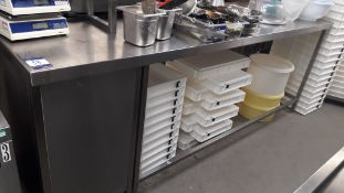 Stainless Steel Food Prep Table with Shelf over 25