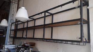 Wall Mounted Steel Back Bar Display 390x85x35