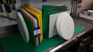 Quantity of Nylon Chopping Boards and Knives