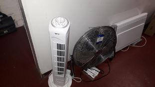 3 x Various Fans and Heaters