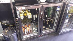 Kool NRLST2-IC210A Glazed Double Door Back Bar Ref