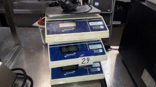 3 x Genware NACS06 6kg Electronic Platform Scales