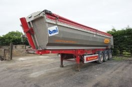 BMI 40 CuYD Alloy Half pipe tipper Trailer, Serial Number SA9TAS03HG176016, the sale of this lot