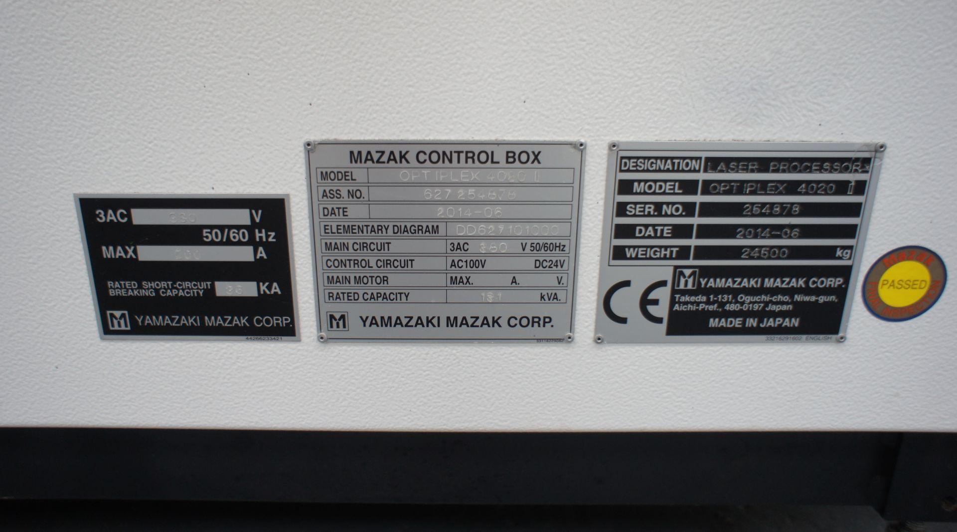 2015 - Mazak OptiPlex 4020 II Laser Cutting Machin - Image 10 of 15