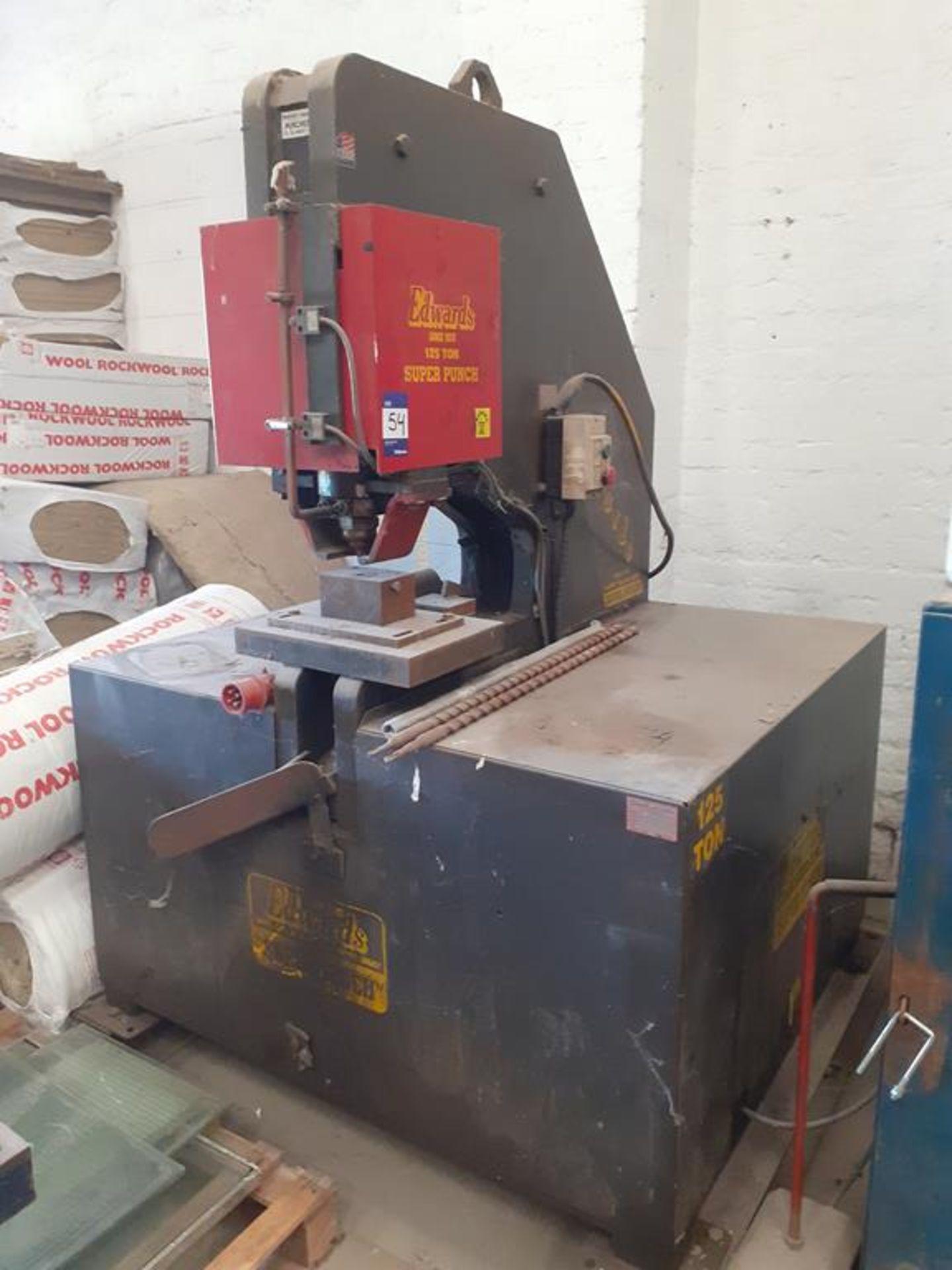 Edwards 125 ton super punch power press