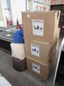 3 x 'Calais' dining chairs and 3 x tub chairs