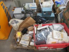 Pallet of assorted electrical components