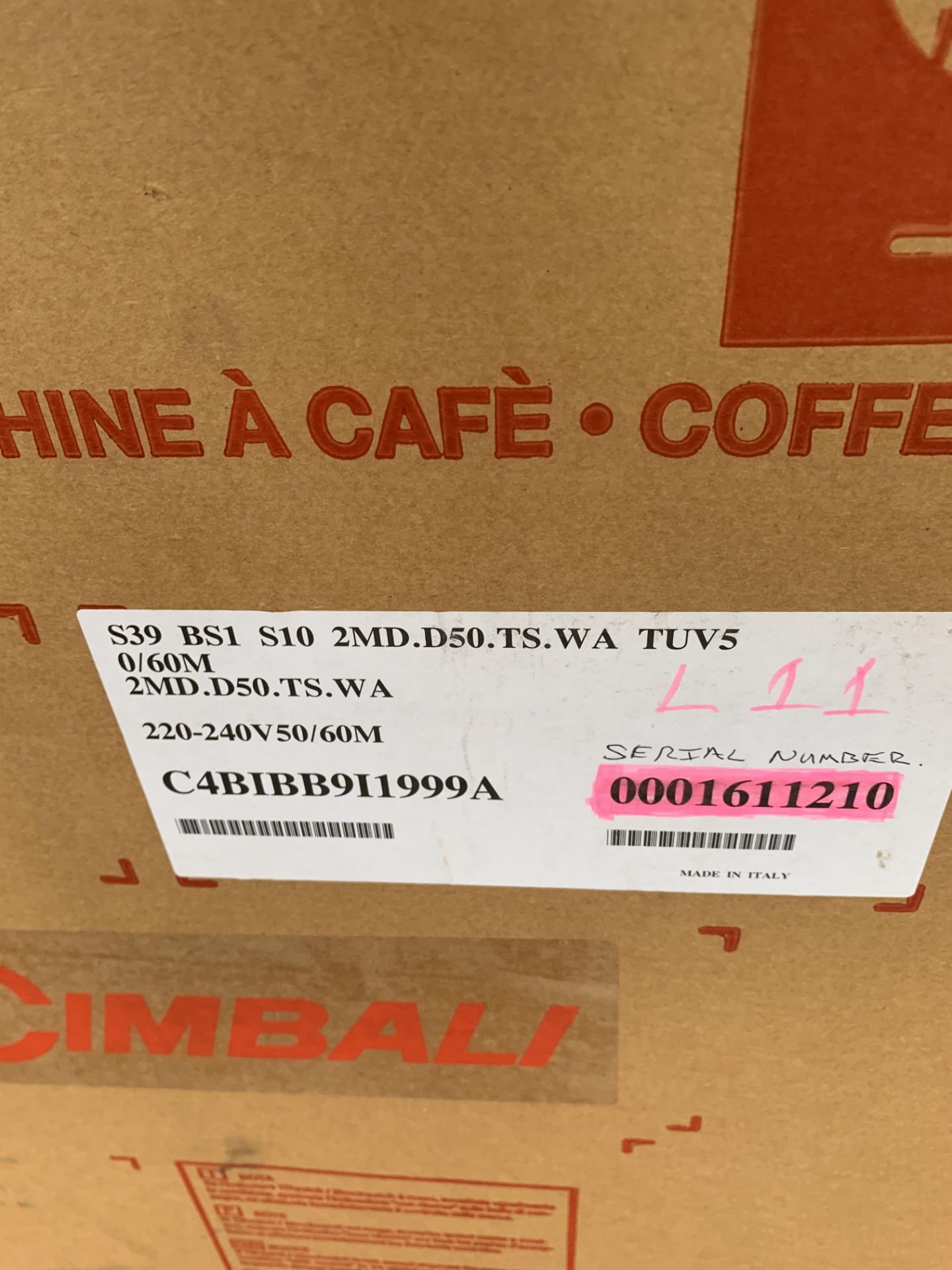 A unused La Cimbali S39 TE Bar System Bean to Cup - Image 8 of 9