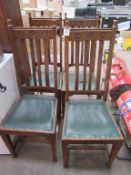 7 x dining chairs, coffee table, cabinet