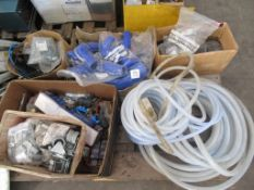 Pallet of piping, tubing, fittings etc.