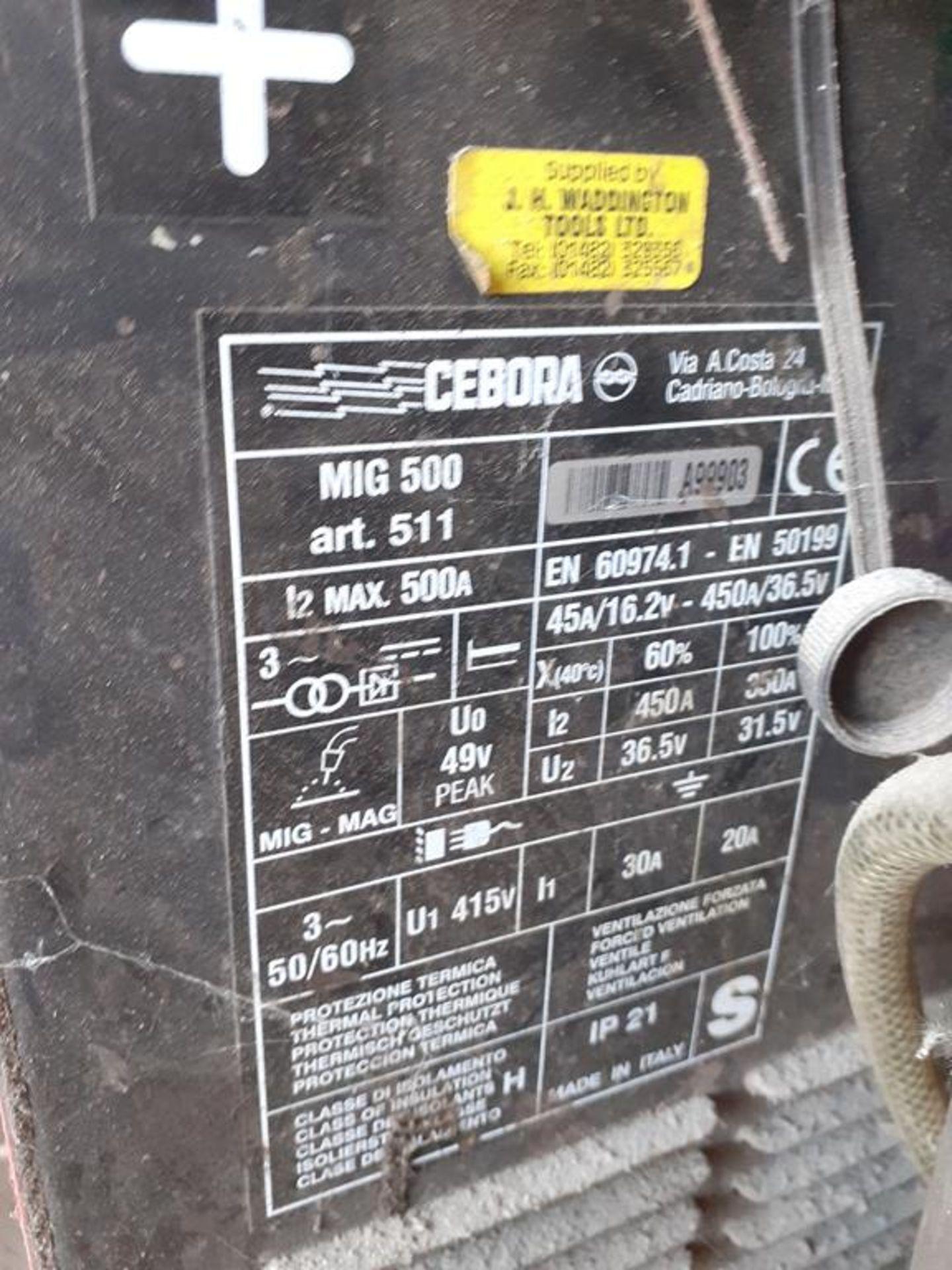 Cebora MIG 500 Mig welder - Image 2 of 2