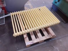 Pallet to contain 2 x cast iron radiators