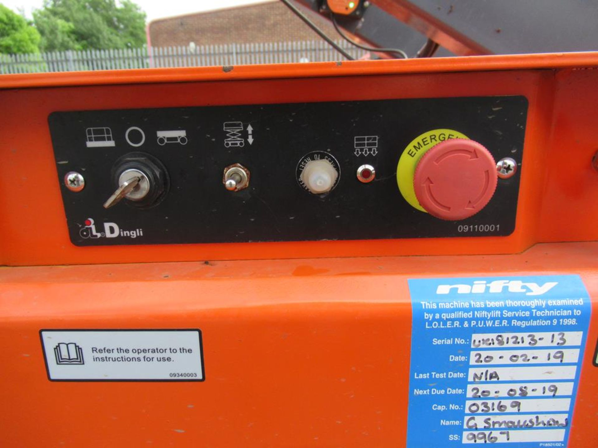Dingli JCPT 1412 DC 24V electric scissor lift - Image 3 of 7