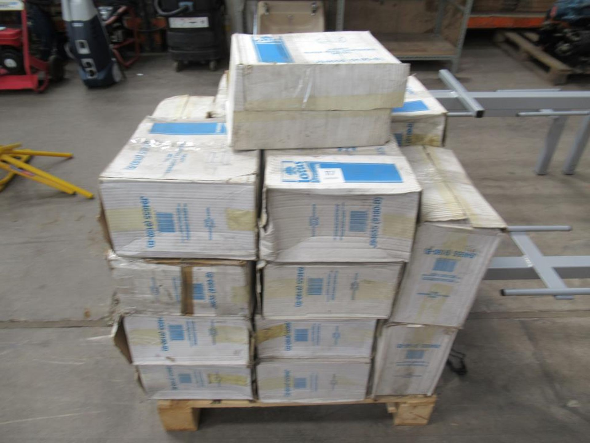 Pallet of Lotus 'handy wiper roll dispensers'