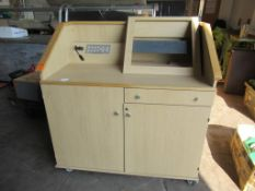 Bespoke office/reception unit with 6 drawer unit