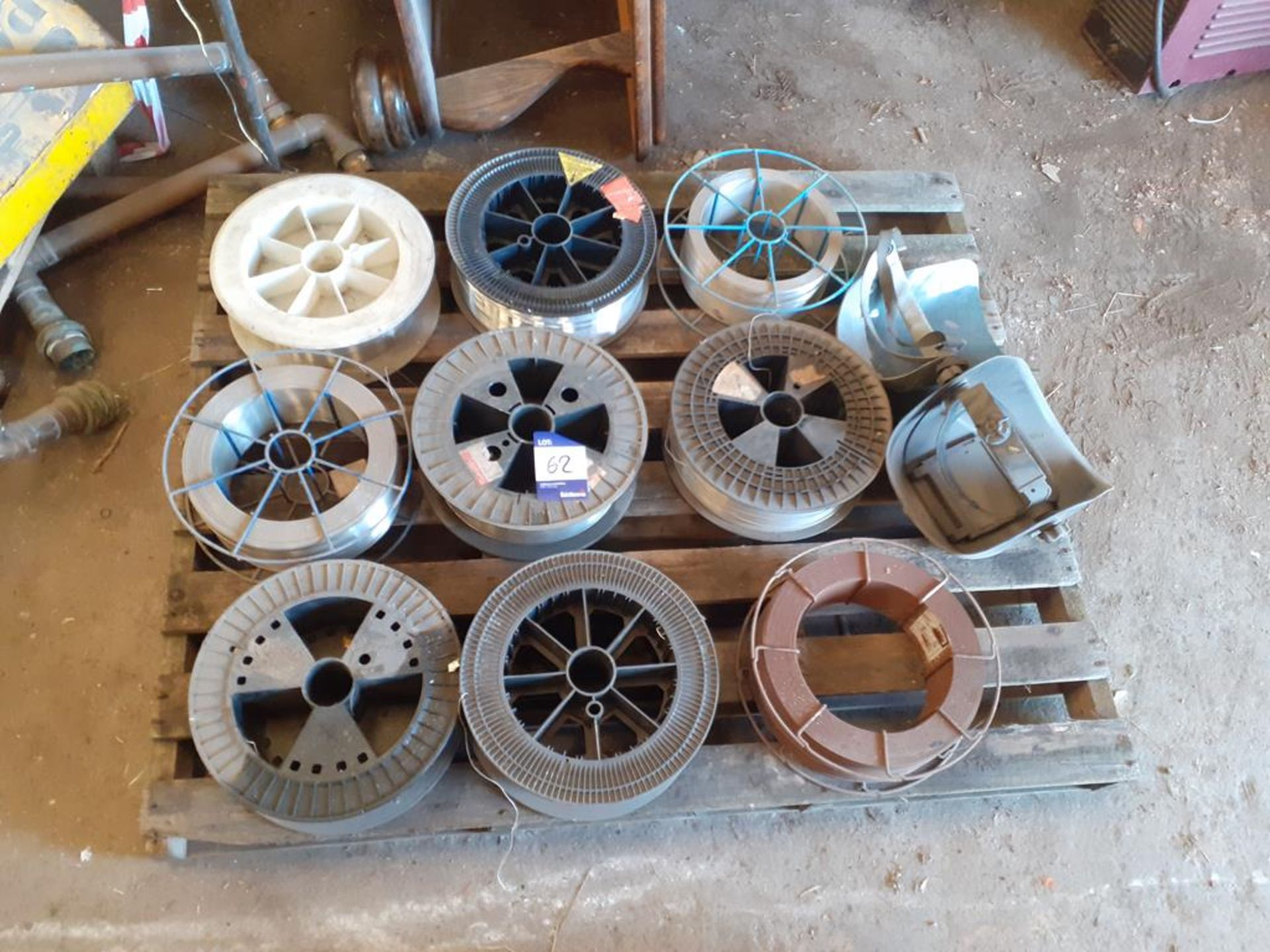 Pallet to contain qty of welding wire and welding