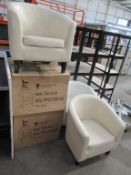 5 x leather effect tub chairs