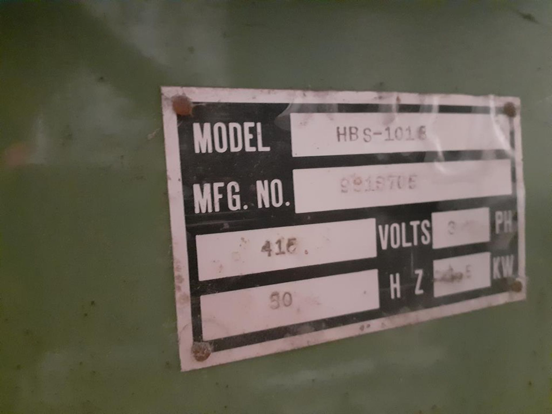Metsaws HBS-101 8 horizontal metal working bandsaw - Image 7 of 7