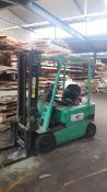 Mitsubishi 2ton Electric Forklift Truck Model FB20KC serial number EFB7A-00295 with Charger (2004)