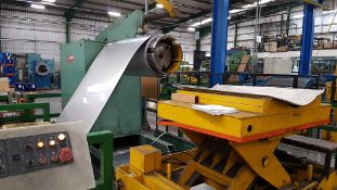 Dimeco 1300mm Cut to Length Line for Stainless Steel and Aluminium. Reserve £10,000