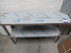Stainless Steel 2 Tier Shelf, 1140 x 300mm