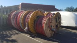 8 x Reels of Nexans High Voltage Cable Copper Core