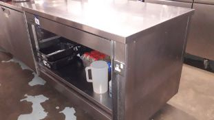 Bartlett Stainless Steel Mobile Counter Section with Storage Under 1,200mmx800mm & Contents –