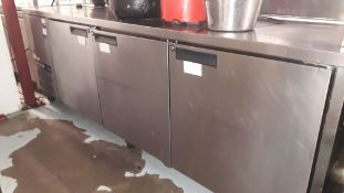 Williams Stainless Steel Triple Door Counter Refri