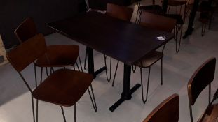 Oak Effect Twin Pedestal Table 1,100mm with 4 Steel Framed Chairs – Located 85 Scoresby Street,