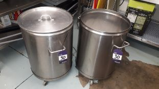 Two Stainless Steel Mobile Stock Bins – Located 85 Scoresby Street, London, SE1 0XN