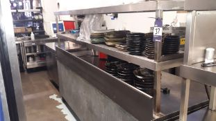 Stainless Steel Two Tier Counter Gantry – Located 85 Scoresby Street, London, SE1 0XN