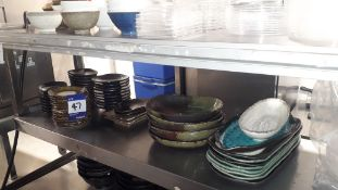 Crockery, Cutlery & Glassware as Lotted and Steel Shelving Unit – Located 85 Scoresby Street,