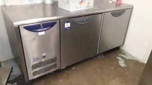 Williams HE2U Stainless Steel Double Door Counter Refrigerator – Located 85 Scoresby Street, London,