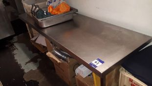 Stainless Steel Low Food Prep Table 1,800mm – Located 85 Scoresby Street, London, SE1 0XN