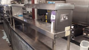 Stainless Steel Two Tier Counter Heated Gantry 2,000mm – Located 85 Scoresby Street, London, SE1