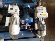 3 x Gear Motors with Nord and Diamond Power Gearboxes