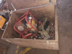 Crate to Contain 2 x Hydraulic Pumps, Pipe Bender and Qty of Hydraulic Hoses
