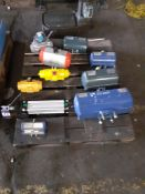 Qty of Various Actuators to include AMRI_KSB, Bray Controls and Pneumax 1320.80.250.01 Double Acting