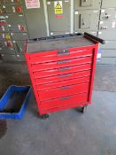 Tengtools mobile 7 draw tool box; sack trolley