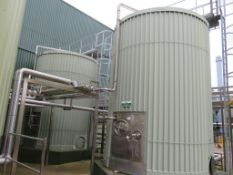 45,000 litre stainless steel lagged and clad whey