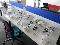 13 Twin Monitor Desk Brackets