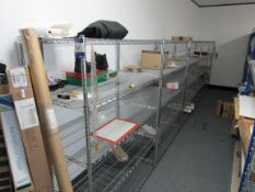 7 Bays Chromed Wire Shelving