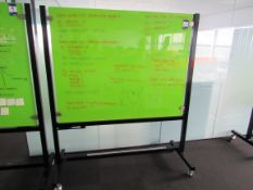 Mobile Magnetic Glass Board 1.5 x 1.2m S1031512MOB-GNBL